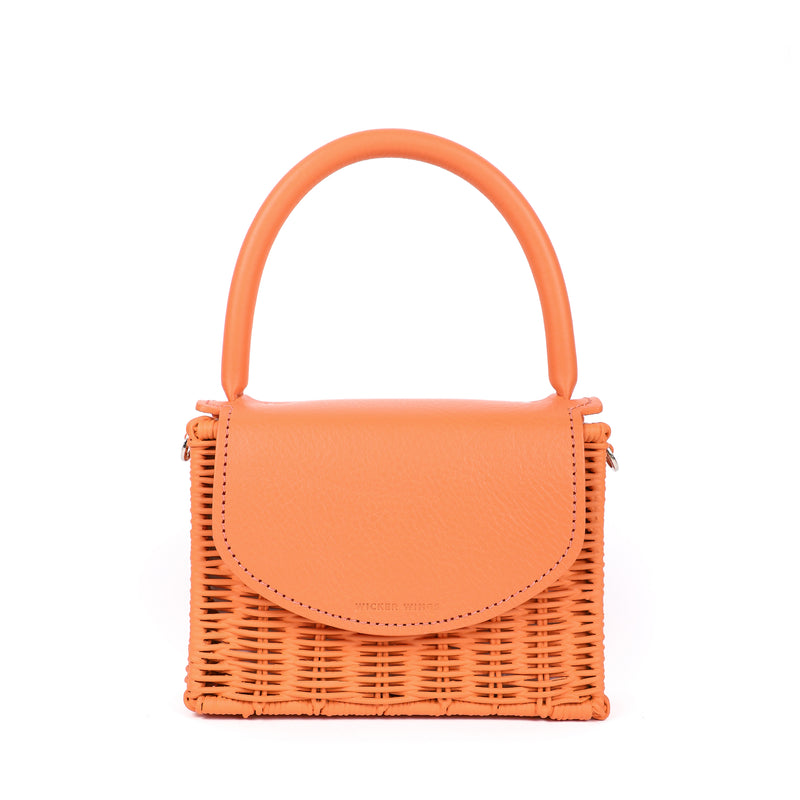 Babing--Orange--Wicker-Wings-Wicker-bag-Bucket-bag-Bags-for-women-Designer-Handbags-Beach-bag-Summer-bag-Straw-Bag-Black-bag-Crossbody-bag-Mini-bag-Leather-handbags-Purse