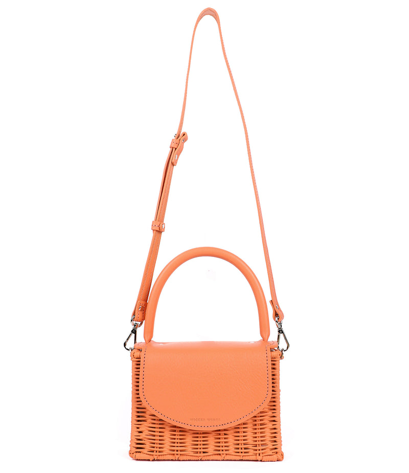Mini Kuai---Orange---Front-Wicker-Wings-Wicker Bag-Bucket Bag-Bags for Women-Designer Handbags-Beach  Bag-Summer Bag-Straw Bag-Black Bag-Crossbody Bag-Mini-Bag-Leather Handbags-Purse