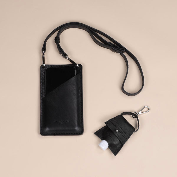 Black Phone Pouch & Hand Sanitiser Set (5060370595979)