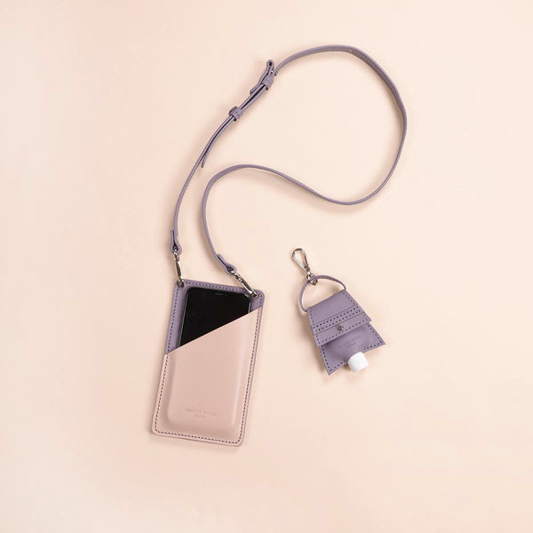 Lavender & Cream Phone Pouch & Hand Sanitiser Set (5060389240971)