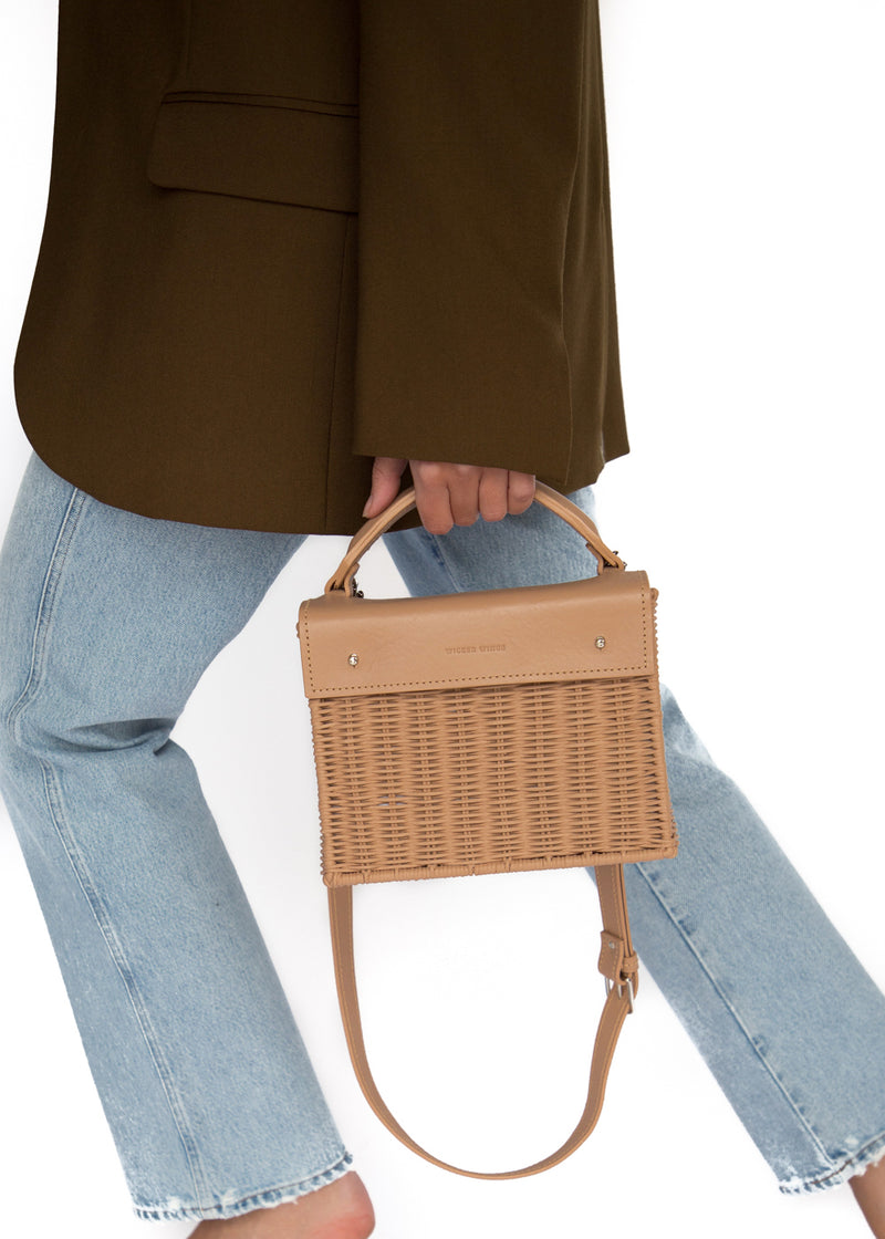 Wicker Wings - Wicker Handbag - Straw Bag - Woven Bag - Summer Bag - Basket Bag (4950185181323)