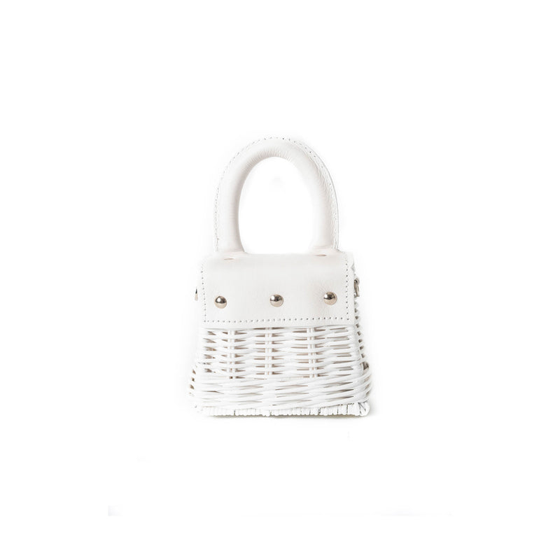 Wicker Wings - Wicker Handbag - Straw Bag - Woven Bag - Summer Bag - Basket Bag - Micro Bag (4660784103563)