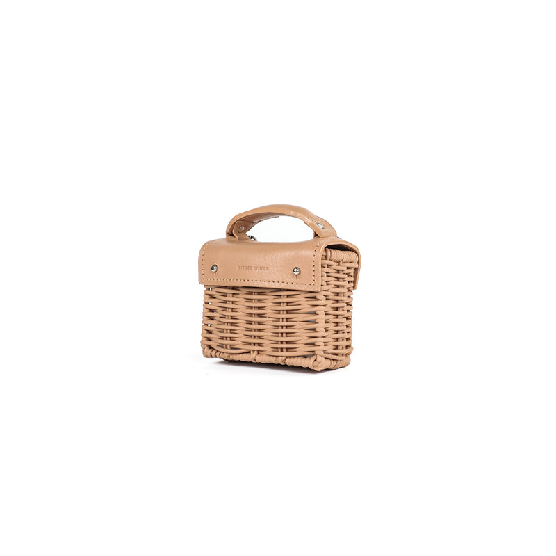 Wicker Wings - Wicker Handbag - Straw Bag - Woven Bag - Summer Bag - Basket Bag - Micro Bag (4950281191563)
