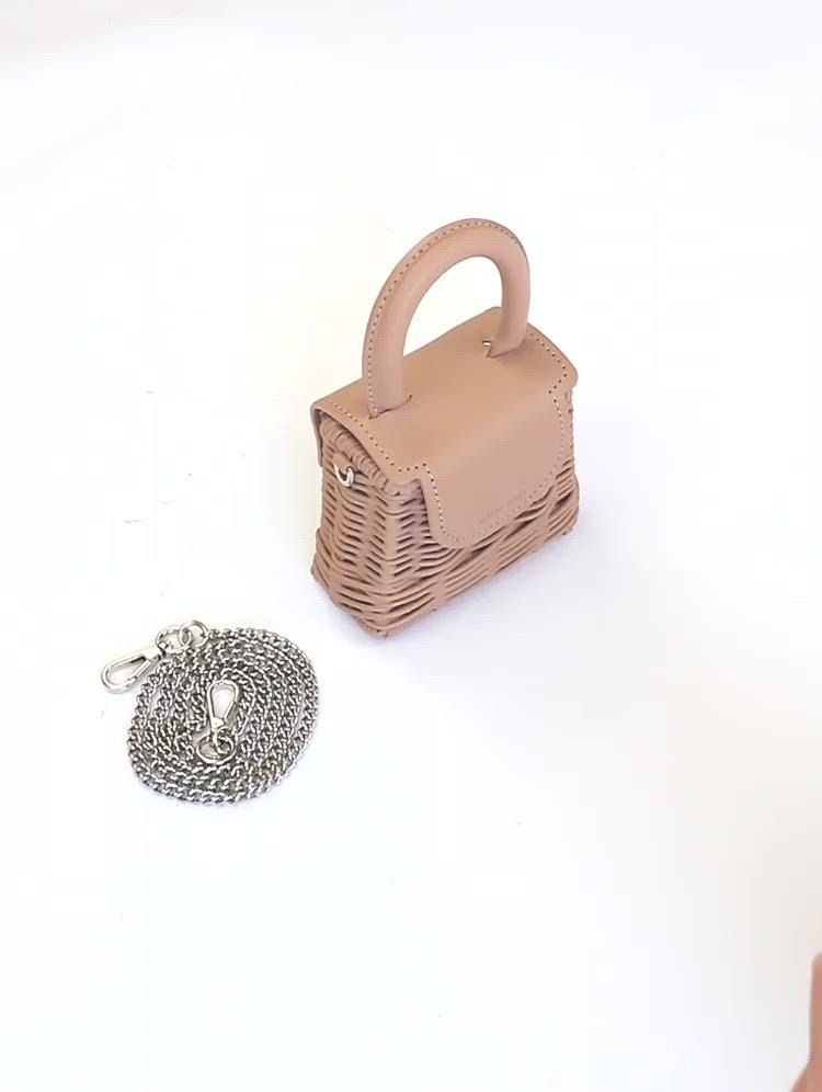 Wicker Wings - Wicker Handbag - Straw Bag - Woven Bag - Summer Bag - Basket Bag - Micro Bag