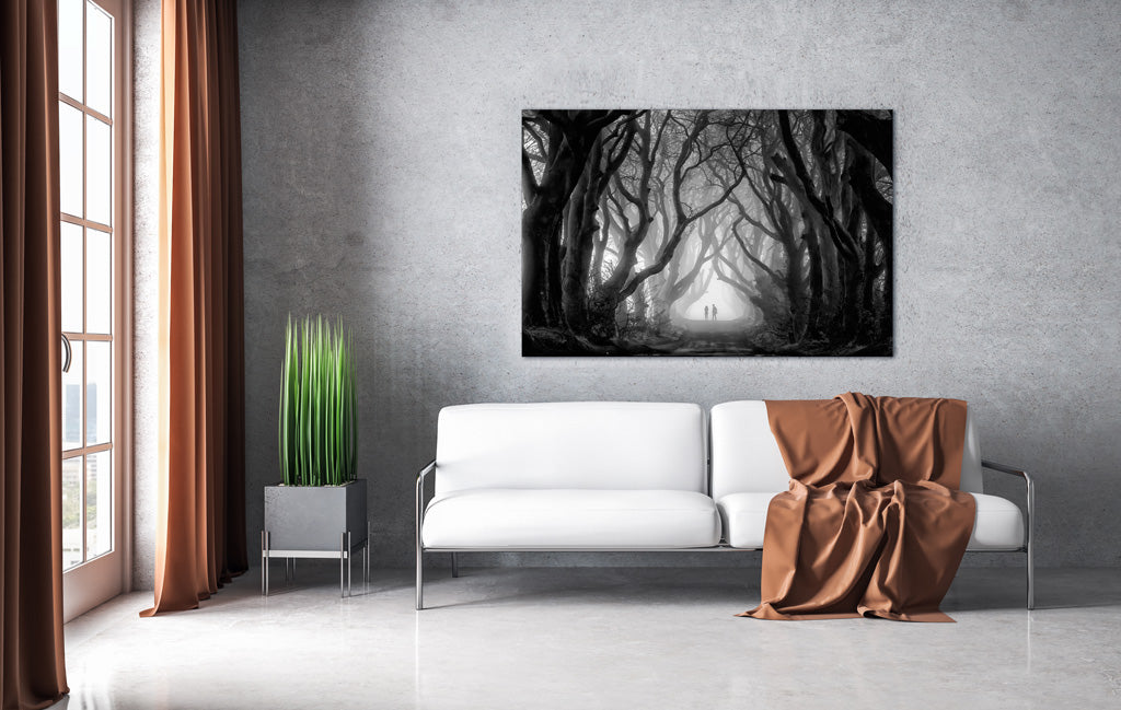 Mist Dark Hedges Game of Thrones Location - wall art