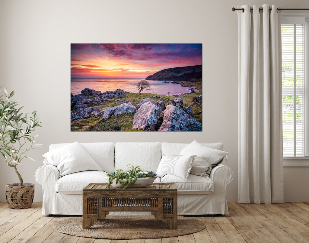 Sunrise Murlough Bay Game of Thrones location - wall art