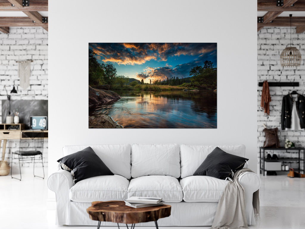 Sunset Glendalough County Wicklow Ireland interior home