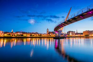 Twilight Peace Bridge Derry