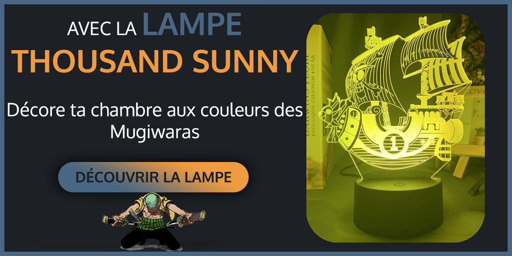 lampe thousand sunny lampe one piece décoration chambre