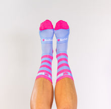 Load image into Gallery viewer, PINK & BLUE STRIPED SOCKS