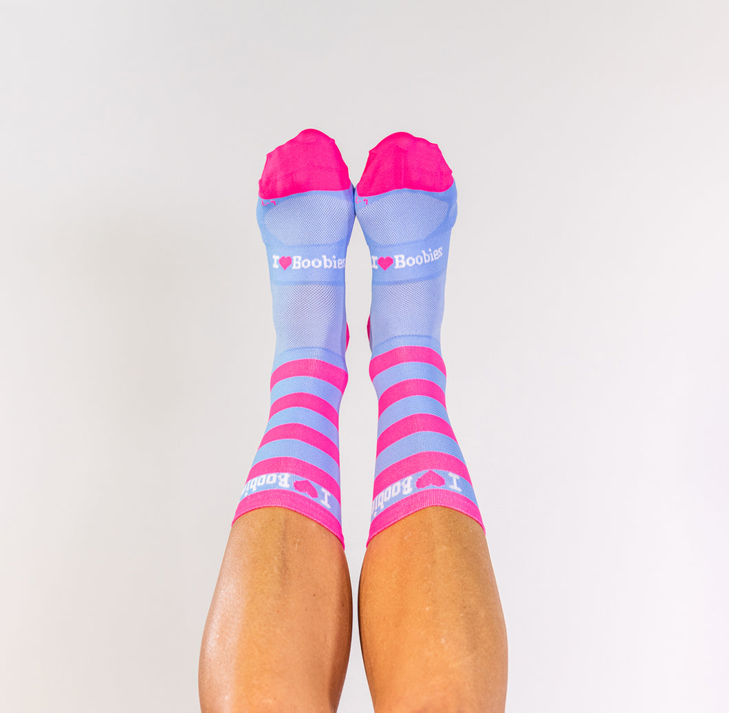 PINK & BLUE STRIPED SOCKS