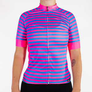 SPORTSFIT PINK & BLUE STRIPED JERSEY
