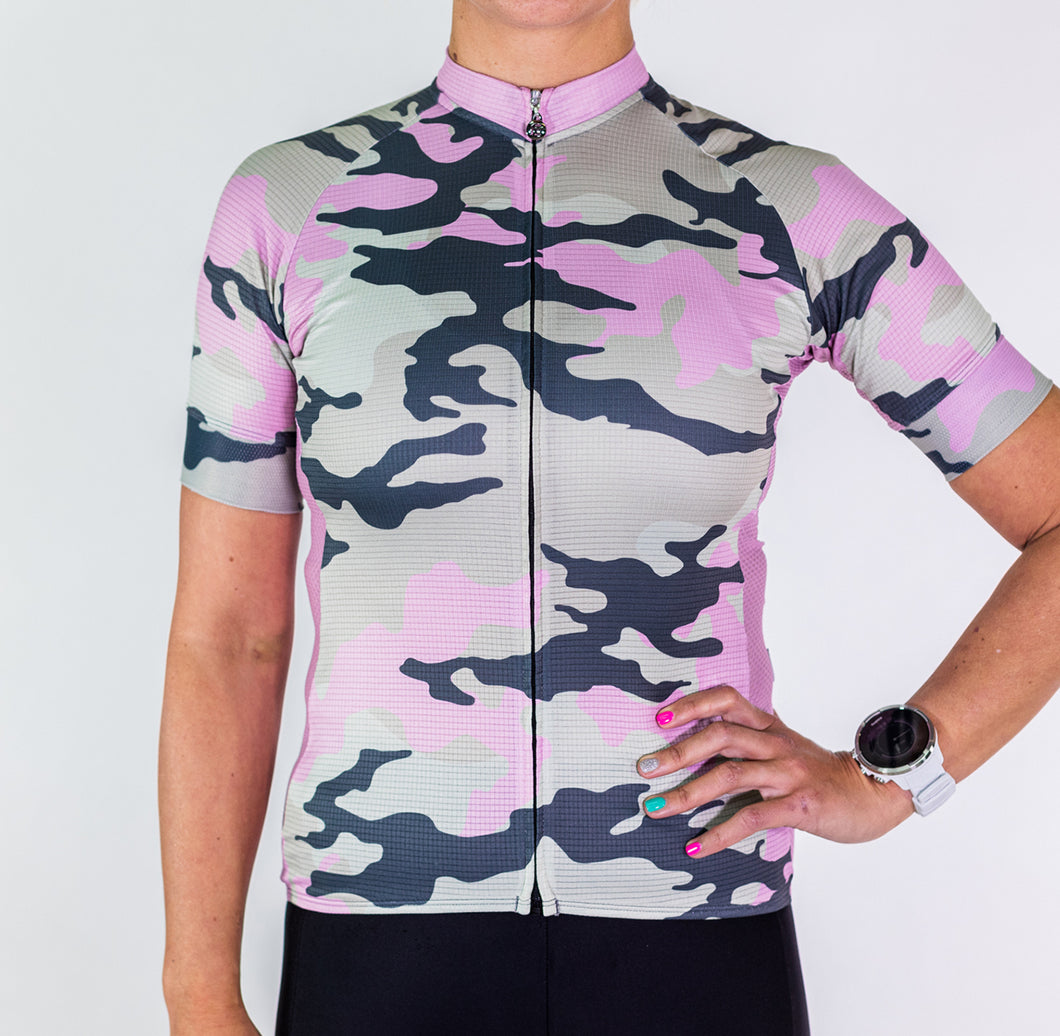 SPORTSFIT PINK CAMO JERSEY
