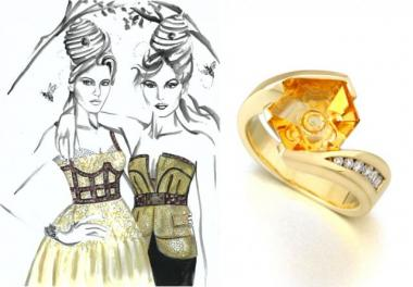 Fashion & Jewelry Trend: Honeycomb Motifs - Mark Schneider Design