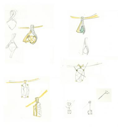 Pictures & Sketches From Mark's Trunk Show at Conti Jewelers - Mark Schneider Design