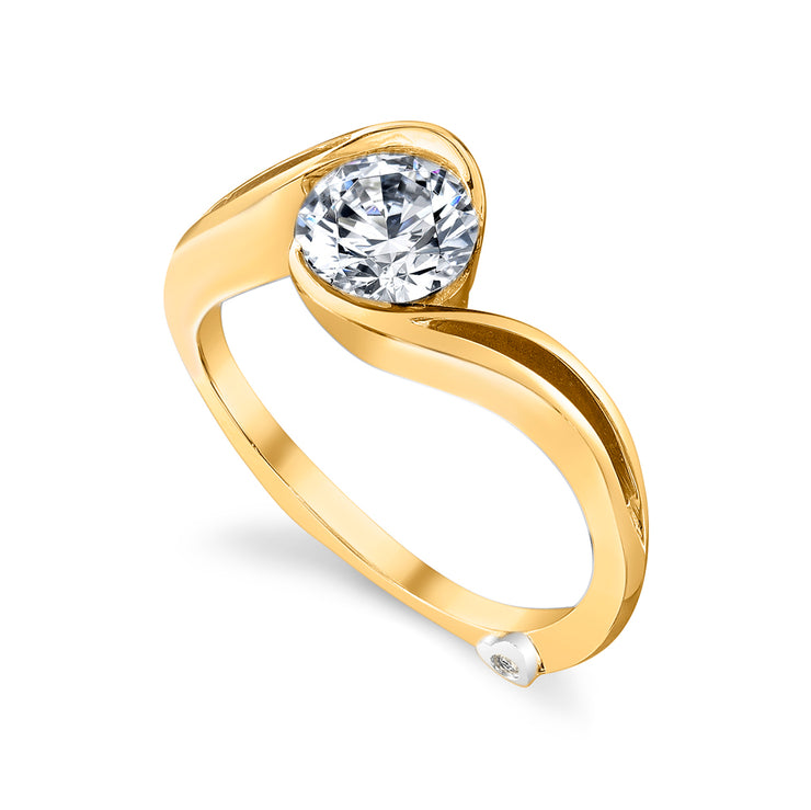 Yellow Gold | Aerial-engagement-ring