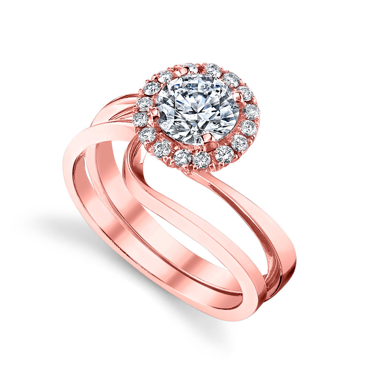 Rose Gold | Angelic-engagement-ring