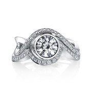 Platinum | Aurora-engagement-ring