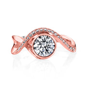 Rose Gold | Aurora-engagement-ring