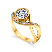 Yellow Gold | Aurora-engagement-ring