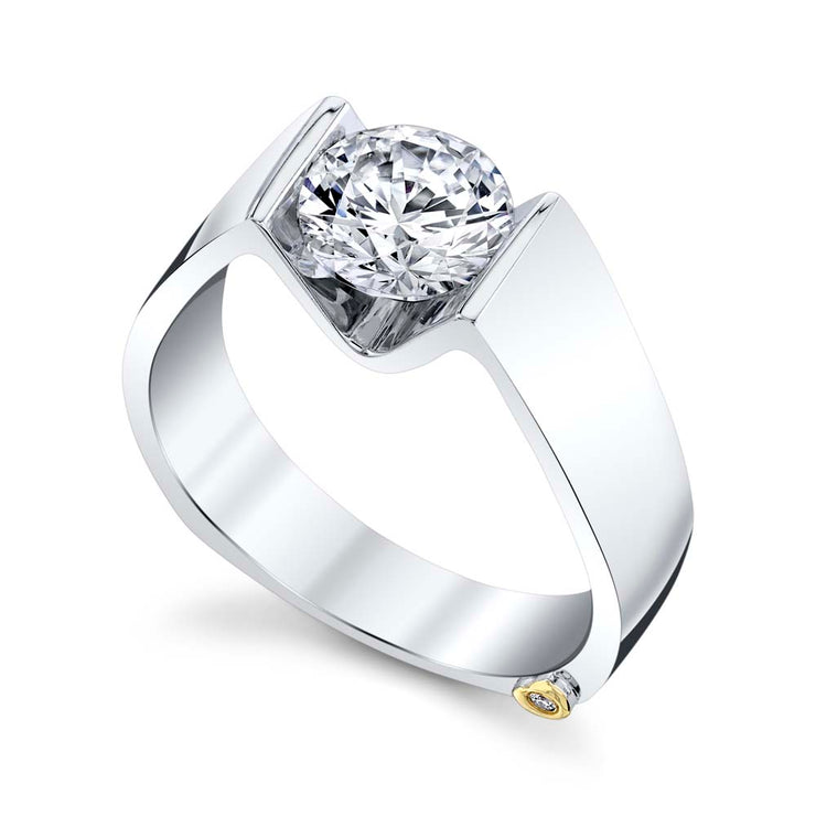 White Gold | Blissful-engagement-ring