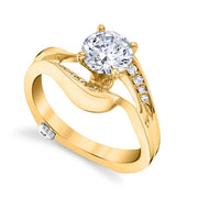 Yellow Gold | Breeze engagement ring