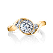 Yellow Gold | Celestial-engagement-ring