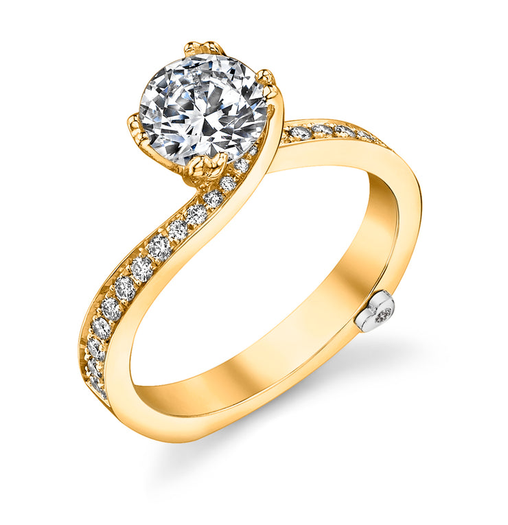 Yellow Gold | Clarity-engagement-ring