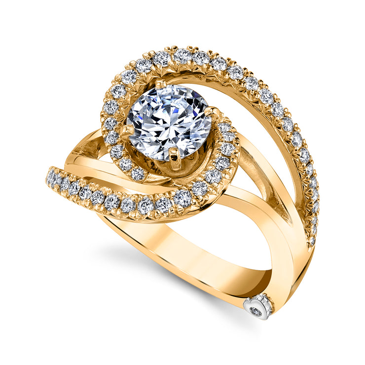 Yellow Gold | Constellation-engagement-ring