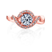Rose Gold | Dahlia-engagement-ring