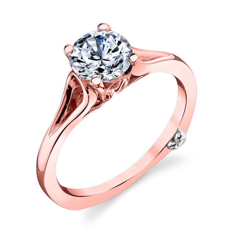 Rose Gold | Dainty-engagement-ring