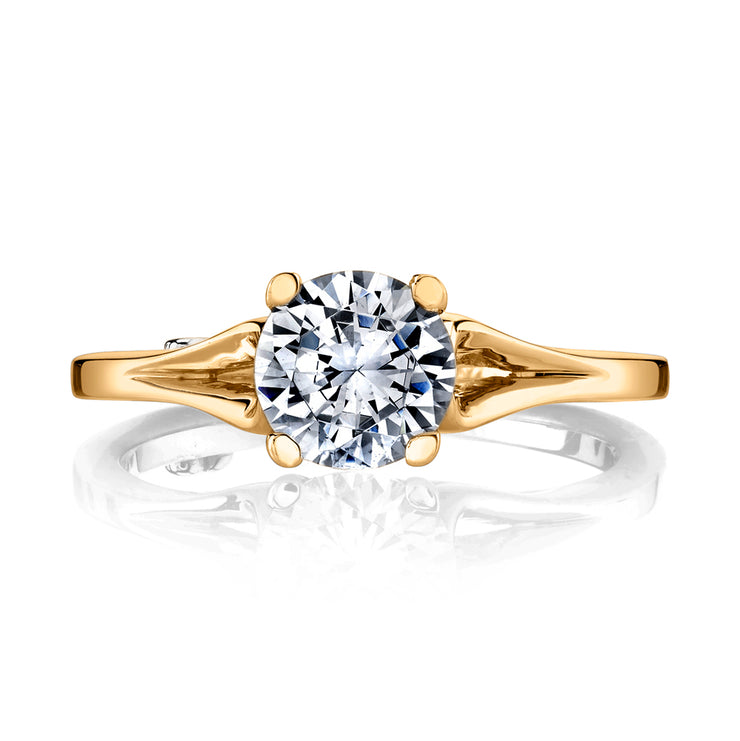 Yellow Gold | Dainty-engagement-ring