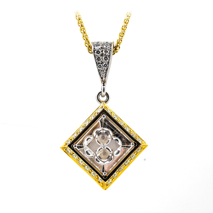 Diamond & Quartz Pendant