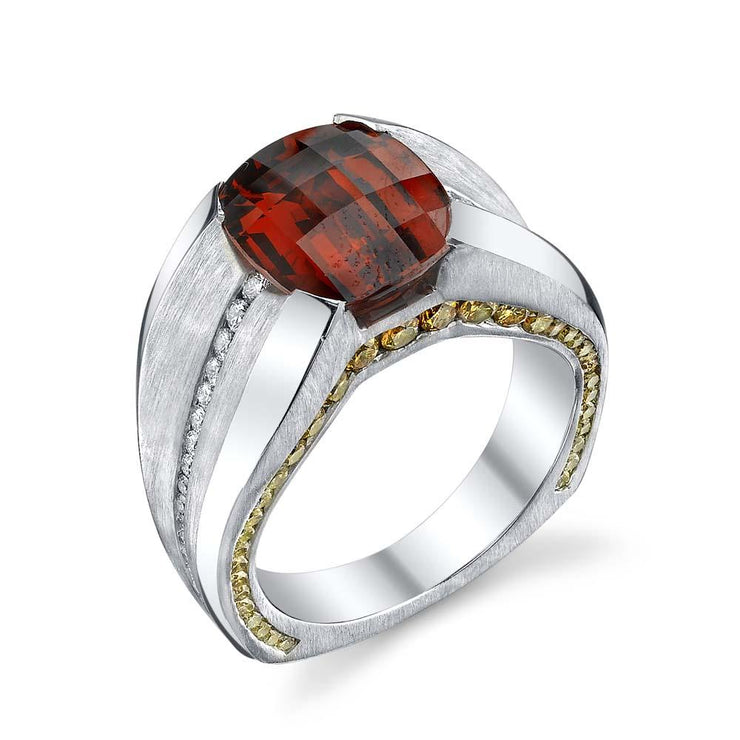 elusive spessartite garnet gents ring