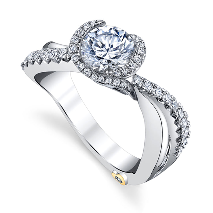 Platinum | Feather-engagement-ring