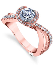 Rose Gold | Feather-engagement-ring