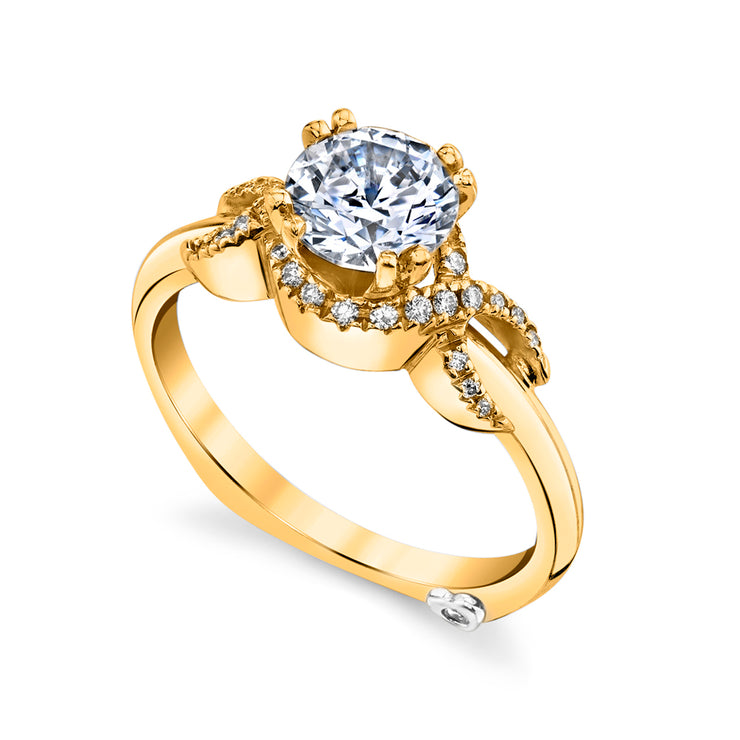 Yellow Gold | Infinity-engagement-ring