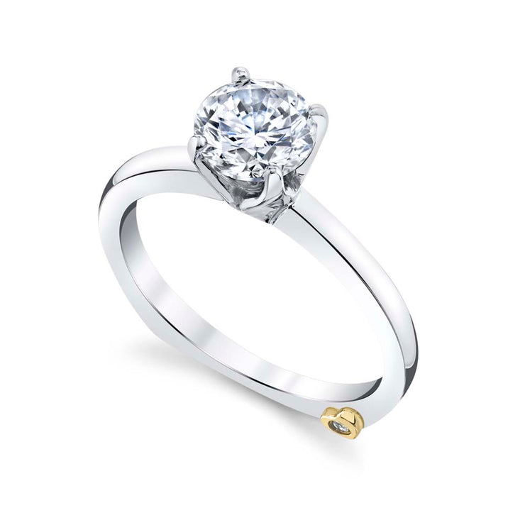 White Gold | Kiss-engagement-ring