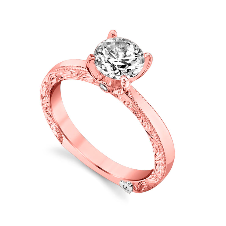 Rose Gold | Lace-engagement-ring