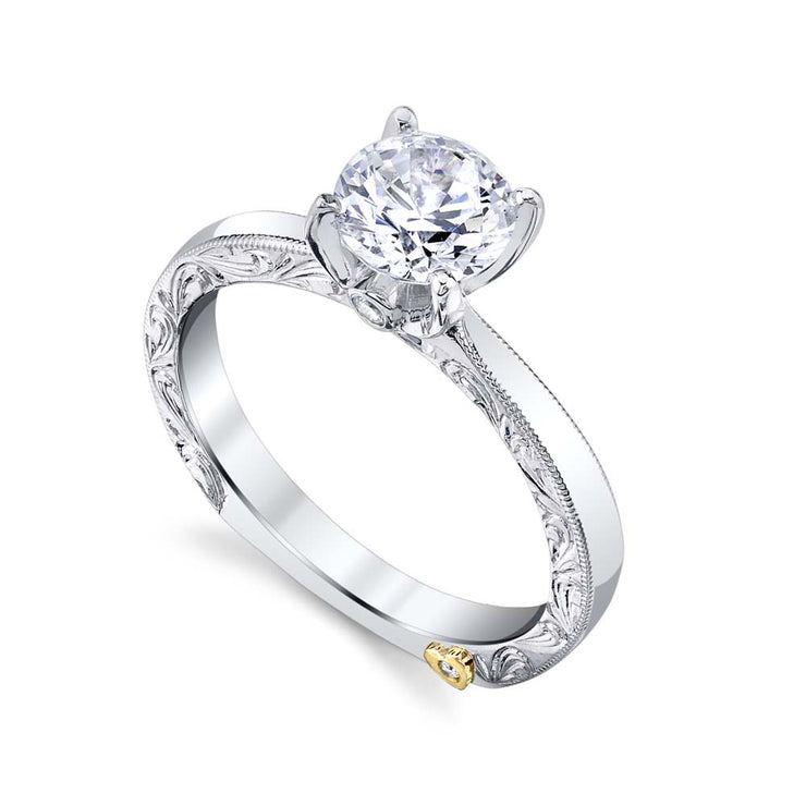 White Gold | Lace-engagement-ring