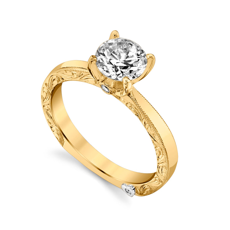 Yellow Gold | Lace-engagement-ring