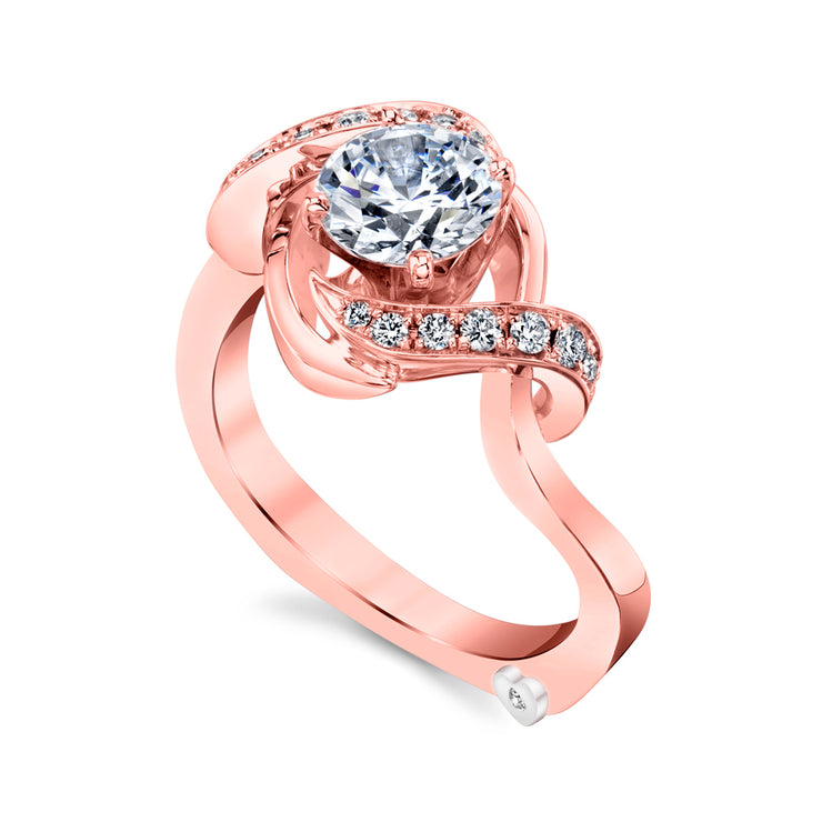 Rose Gold | Oasis-engagement-ring