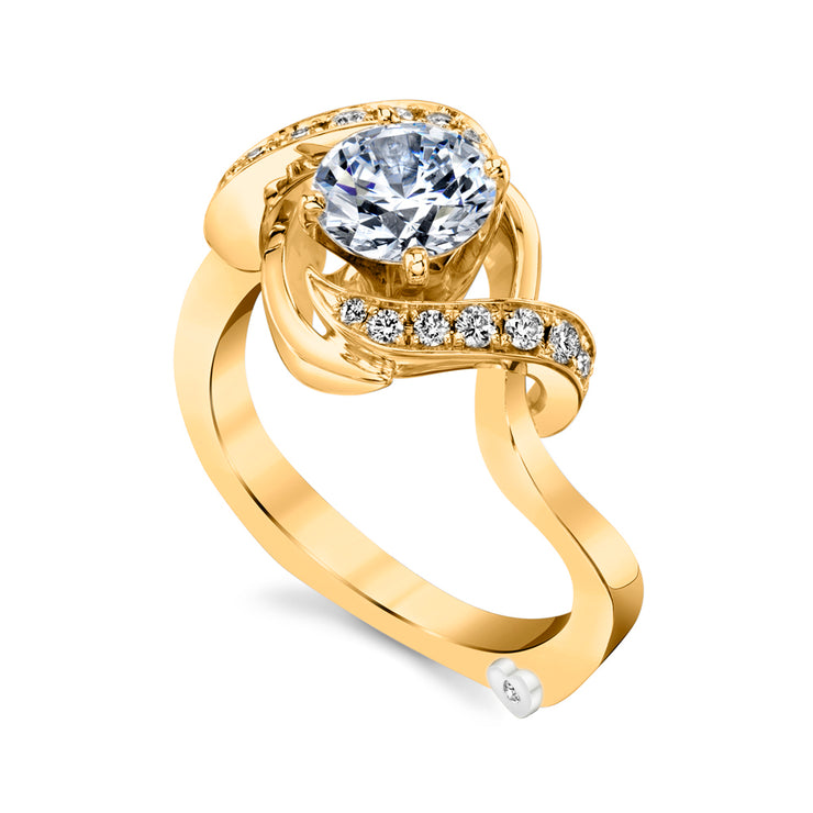 Yellow Gold | Oasis-engagement-ring