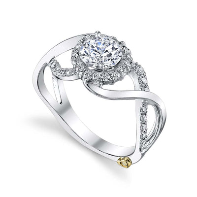 White Gold | Opulent-engagement-ring