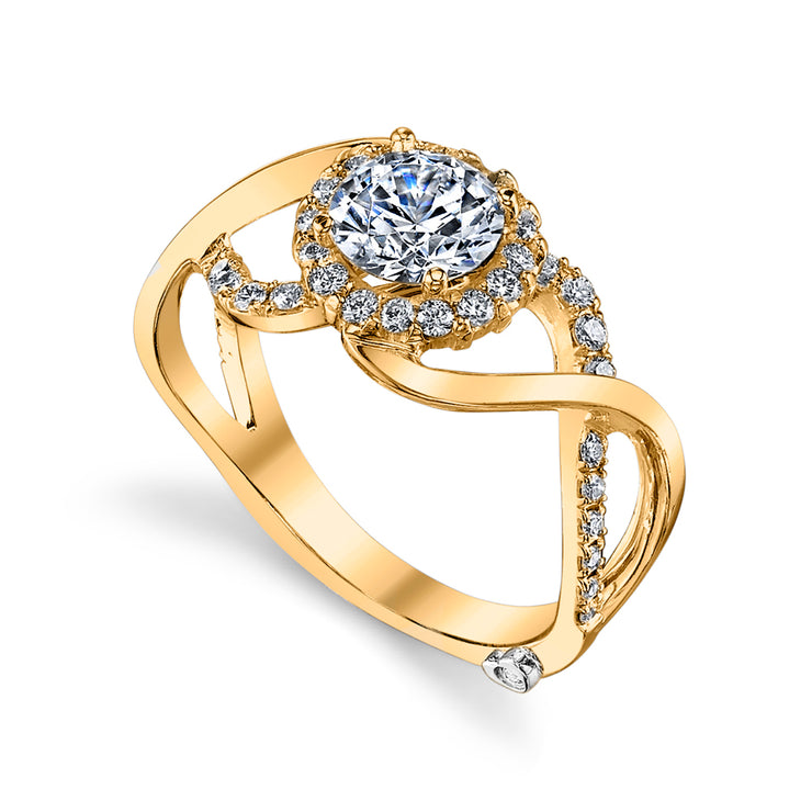 Yellow Gold | Opulent-engagement-ring