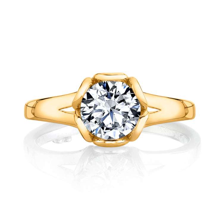 Yellow Gold | Petal-engagement-ring