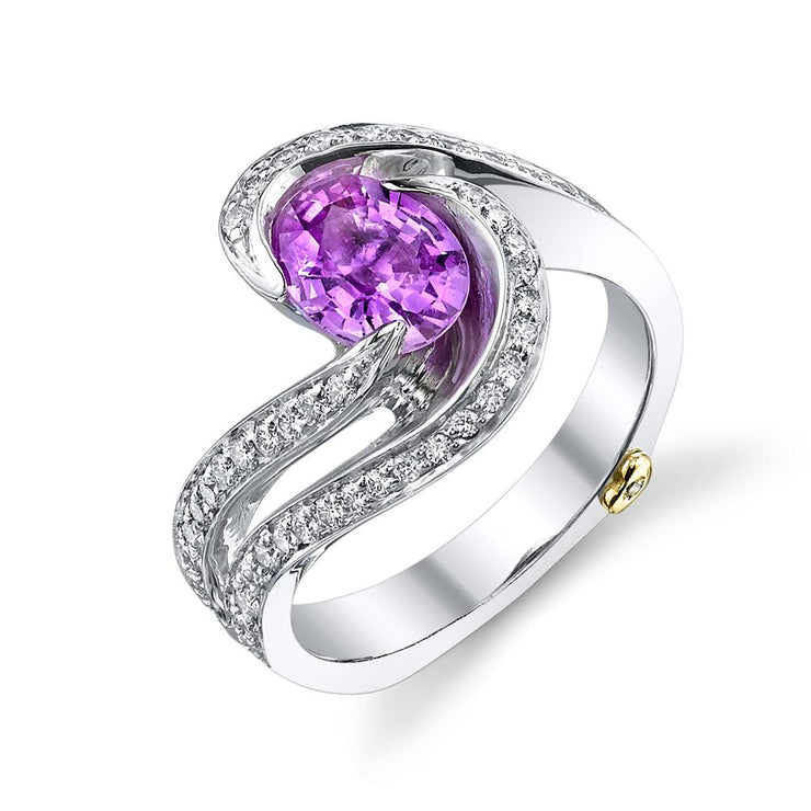 Pink Sapphire Brilliance Ring