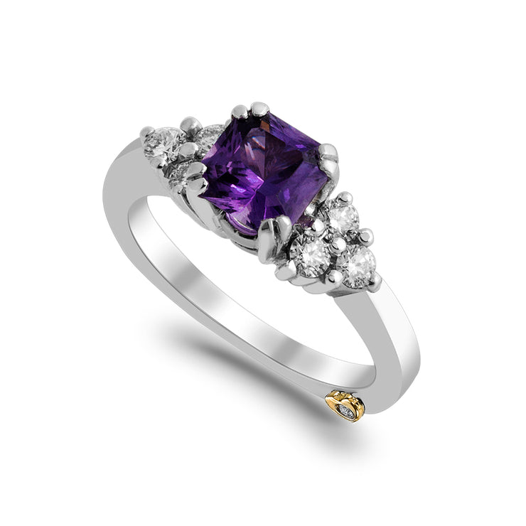 Purple Sapphire Heavenly Ring
