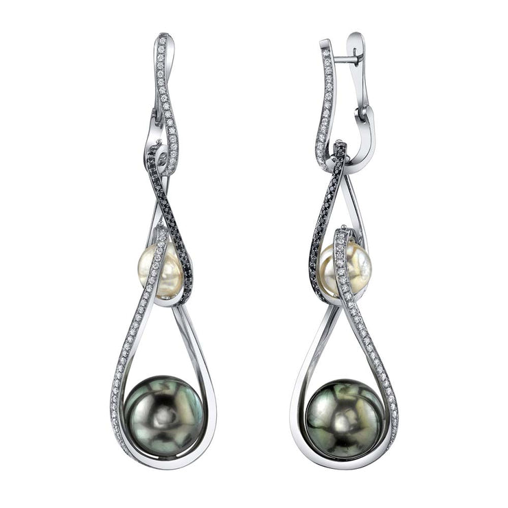 rotating pearl earrings