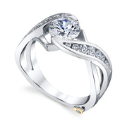 White Gold | Soul mate-engagement-ring